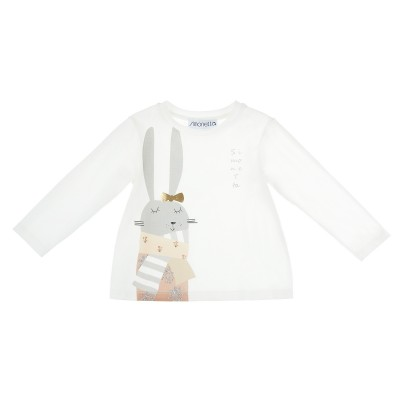 T-shirt stampa coniglietto