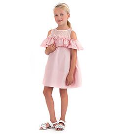 Abito bambina rosa